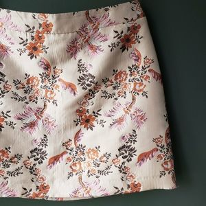 Pink Satin Embroidered Mini Party Skirt